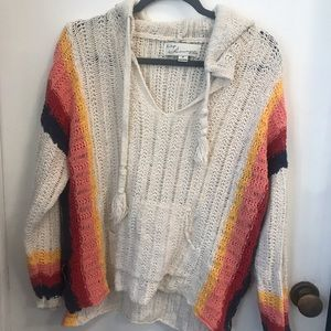 Boutique bought boho knit hoodie